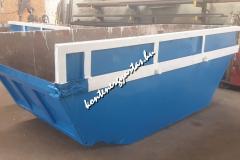 7 m3-es lenyitható konténer javítva, festve