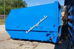 10 m3-es tömörítős konténer javítva, festve
