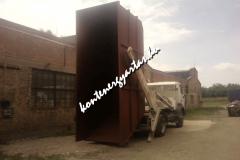 21 m3-es konténer ürítés próba