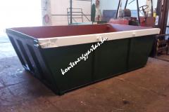 6 m3-es lenyitható hátfalú, Bobcat szállító