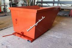 2 m3-es targoncával mozgatható konténer
