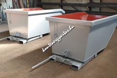 1 m3-es, targoncával billenthető konténer