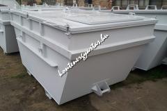 7 m3-es, tetős, veszélyes hulladékos, nyitható tetővel