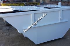 5 m3-es, tetős konténer - fehér