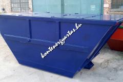 8 m3-es, egyenes tetejű, zárt konténer, nyitható tetővel (8HZ/2)