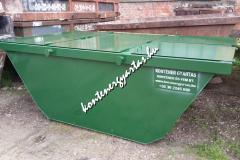 4 m3-es, zárt konténer, nyitható tetővel (4HZ)