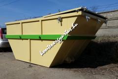 7 m3-es, iszapszállító konténer, zárható fedéllel