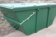 4 m3-es iszapszállító konténer, 4 db nyílós tetővel