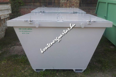 2 m3-es, targoncával is üríthető konténer, egyforma ajtókkal