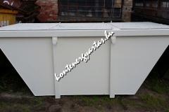4 m3-es, iszapszállító, zárt konténer, 4 db nyílós tetővel